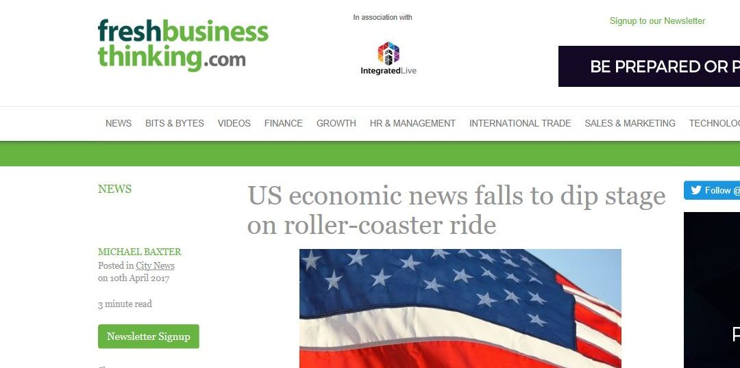 US economic news falls to dip stage on roller-coaster ride
