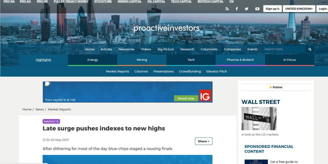Late surge pushes indexes to new highs