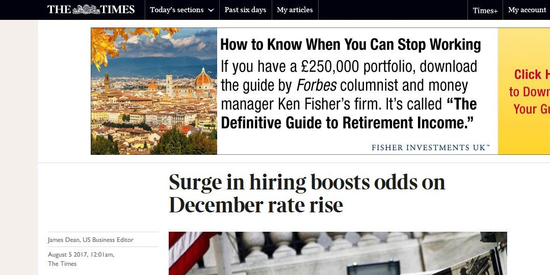 Surge in hiring boosts odds on December rate rise