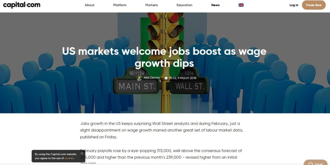 US markets welcome jobs boost as wage growth dips