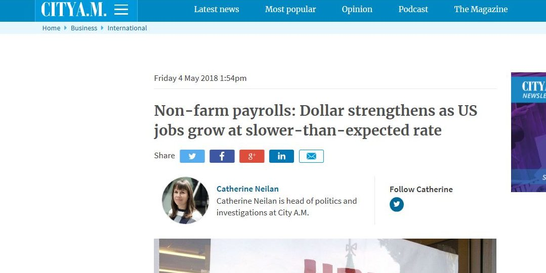 Non-farm payrolls: Dollar strengthens as US jobs grow at slower-than-expected rate