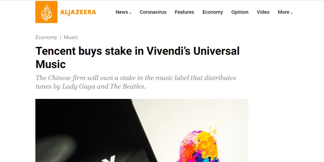 Tencent buys stake in Vivendi's Universal Music
