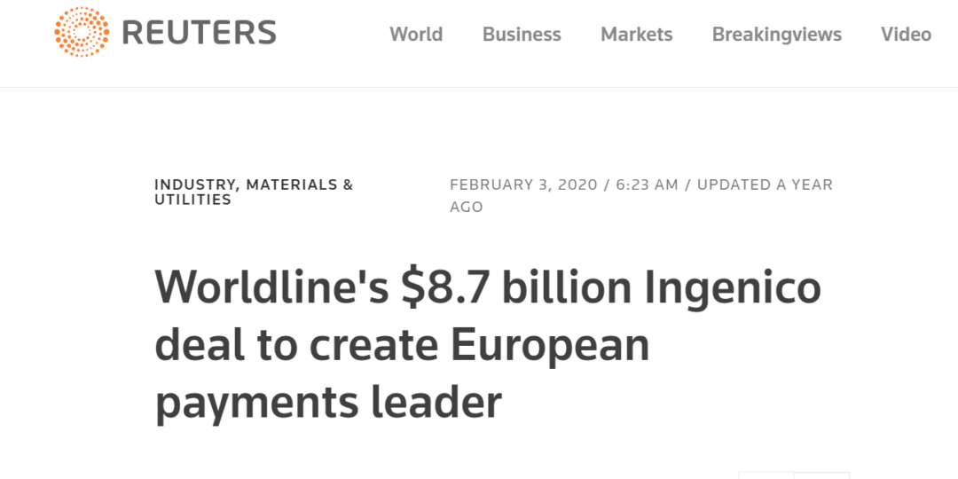 Worldline's $8.7 billion Ingenico deal to create European payments leader